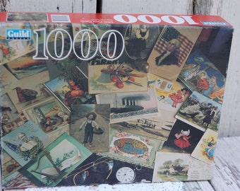 Vintage unopened puzzle. Vintage victorian puzzle 1000 piece puzzle