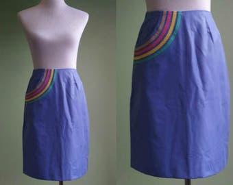 "1970s Lilly Pulitzer Skirt - Pastel Pocket Skirt - XS 24"" Waist"