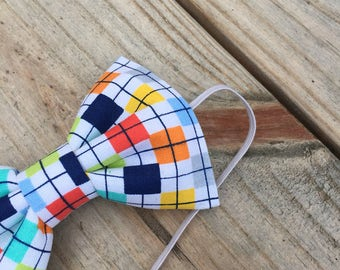 """The """"Beau"""" - Colorful Checkered Bow tie"""