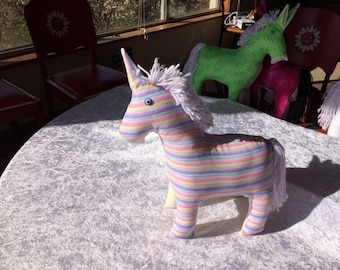Peace Donkey - Stripey glitter fabric