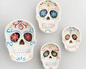 Day of the Dead Ceramic Measuring Cups