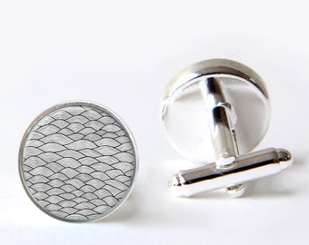 Mens Cufflinks - Geometric Novelty Cuff Links - Gift For Him