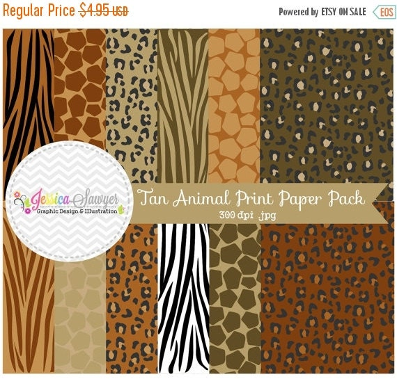 80% OFF - INSTANT DOWNLOAD,  Natural animal print digital paper, zebra paper pack, leopard background, classic leopard papers for commercial