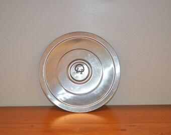 Vintage aluminum burner cover, trivet, food warmer, metal stove top utility cover