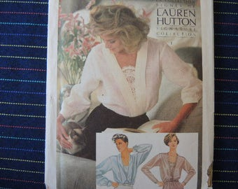 vintage 1980s simplicity sewing pattern 6648 misses loose fitting blouse size 8-10-12