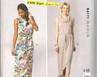 Kwik Sew 4171  new and uncut knits only size X small - X large womans dress