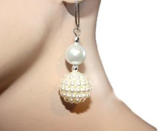 Pearl Earrings, Bridal Earrings, Earrings For wedding, Earrings With Big Beads