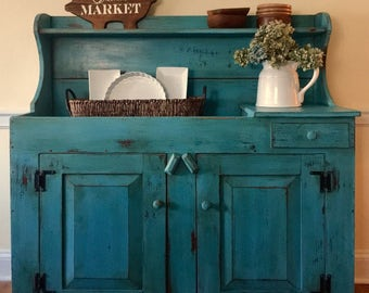 SOLD Farmhouse Dry Sink, Dry Sink, Farmhouse Sideboard, Rustic Sideboard, Rustic Dry Sink, Rustic Buffet, Painted Dry Sink, Pick Up Only