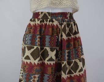 Aztec Patterned Vintage Shorts