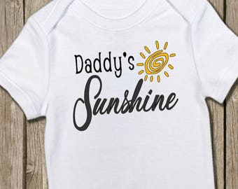 Daddy Onesie, Father's Day Gift, Sunshine Tee, Sunshine Bodysuit, Baby Shower Gift, Daddy's Girl, Daddy's Boy, Daddy Shirt