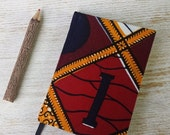BLACK FRIDAY OFFER 2017 diary planner calendar agenda A6 weekly Unique Bespoke Customised hardback covered West African print - gold and red