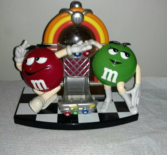 M&M Candy Despenser Mr and Mrs M and M Juke Box vintage collectible candy Despenser
