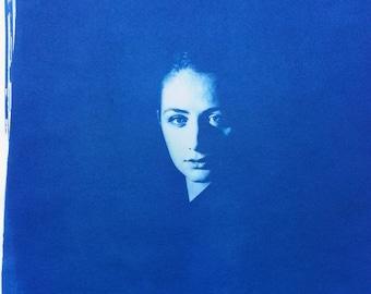 Cyanotype - Female Portrait