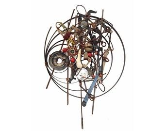 Found Object Industrial Zen Wall Sculpture/ Astro-Kuiper Belt