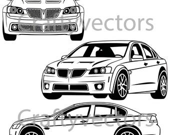Pontiac G8 2009 Vector File