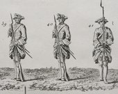 1763 Antique large print of ANCIENT SOLDIERS. Uniforms. Militaria. Diderot Encyclopédie Engraving. 244 years old copper engraving