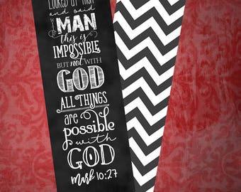 Set of 5 Bookmarks - Mark 10:27