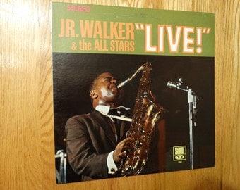 Vintage 1967 Jr Walker & the All Stars Live Vinyl Record Album Jazz Soul Motown Sax Shake and Fingerpop Road Runner How Sweet it is Shotgun