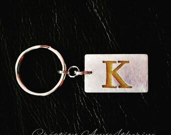 Alphabet keychains :. Aluminum - Letter - Stencil - Accessory - Decoration