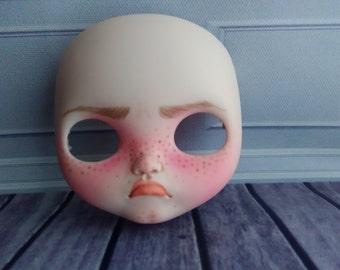 Custom ooak face plates blythe doll by Cheryl Bailey - Spookykidsworkshop