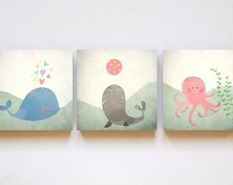 "print set ""Under the sea"" in 12cm x 12cm"