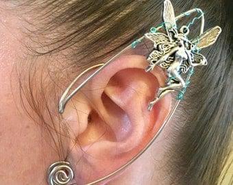Elf Ear Cuff, Ear Cuff, Fairy Ear Cuff, Fairy Earcuff, Steampunk Ear Cuff, Festival Jewelry, Fairy Jewelry