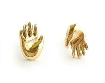 Hand Earrings // Palmistry Earrings, Hand Amulet Earrings