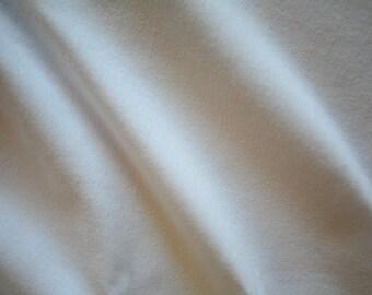 "White Cotton Spandex Jersey Fabric 60"" Wide Per Yard"