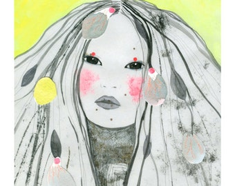 "A4 A5 Art print ""Tes yeux savaient raconter le soleil"" (limited edition)"