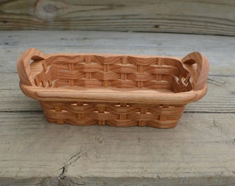 candy basket handles Oak wood