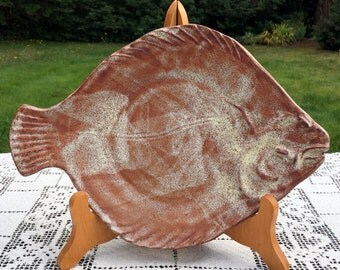 THORA Ovenware / Ceramic Fish Platter / 12 x 8.5 / Thora Fish Platter / Cook Serve Display / Modernist Pottery / Ceramic Fish Tray /VG Cond