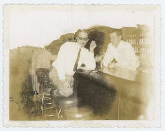 Vintage Polaroid Photo: At the Bar (71542)