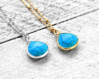 TURQUOISE PURE necklace with turquoise | silver
