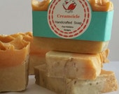 Handcrafted Creamcicle Soap