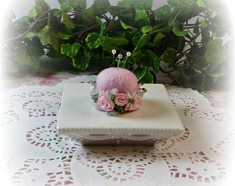 Petite Sweet Rosebuds Pin Cushion