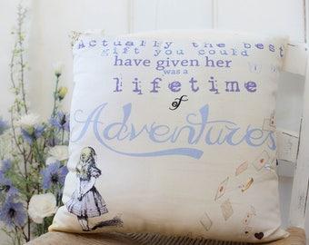 Alice in Wonderland Gift Pillow.  Gift for Alice in Wonderland fans. Girls bedroom. Alice in Wonderland Nursery.