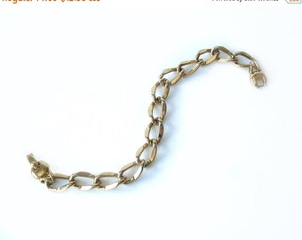 ON SALE Vintage Monet Curb Chain Bracelet Gold Tone