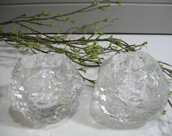 Kosta Boda Candle Holders, Snowball, Ice Glass,  Candlelight, Wedding Tablesetting