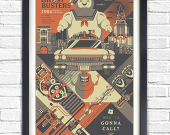 Ghostbusters - 1984 - 19x13 Poster