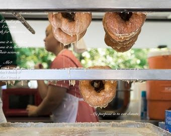 Donut Food Life Purpose Poetry Funny Humor Glaze Type Kitchen Cook Writing Words  Home Decor Art Photo  Print