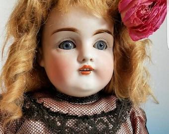 Old 15 Inch Antique German Bisque Head Kestner 154 Shoulder Head Doll