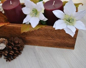 Altholz, Holz Rustikal Herzstück Box, Kerze Box, Rustikalen Tisch Dekor,  Rustikale