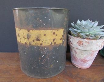 Primitive Vintage Metal Can Rustic Planter Bait Can Planter