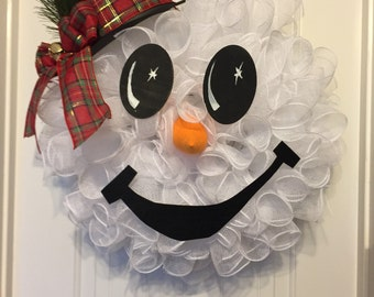 Frosty wreath. Snowman wreath. Frosty the snowman