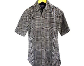 Vintage Pendleton Plaid Wool Mens Shirt