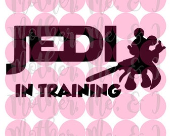 Jedi In Training / Mickey Mouse / Disney / Star Wars SVG DXF PNG Cut File Instant Download Cricut and Silhouette Design for Shirts, Scrap
