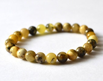 100% Natural Untreated Amber Bracelet, Natural Amber Jewelry, Baltic Amber Bracelet
