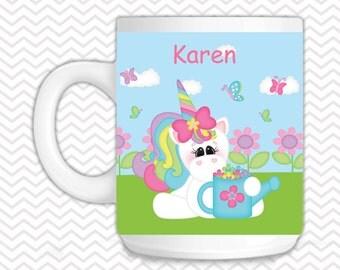 Unicorn Kids Mug - Personalized Unicorn Mug - Customized Mug - Melamine Cup - Personalized Kids cup