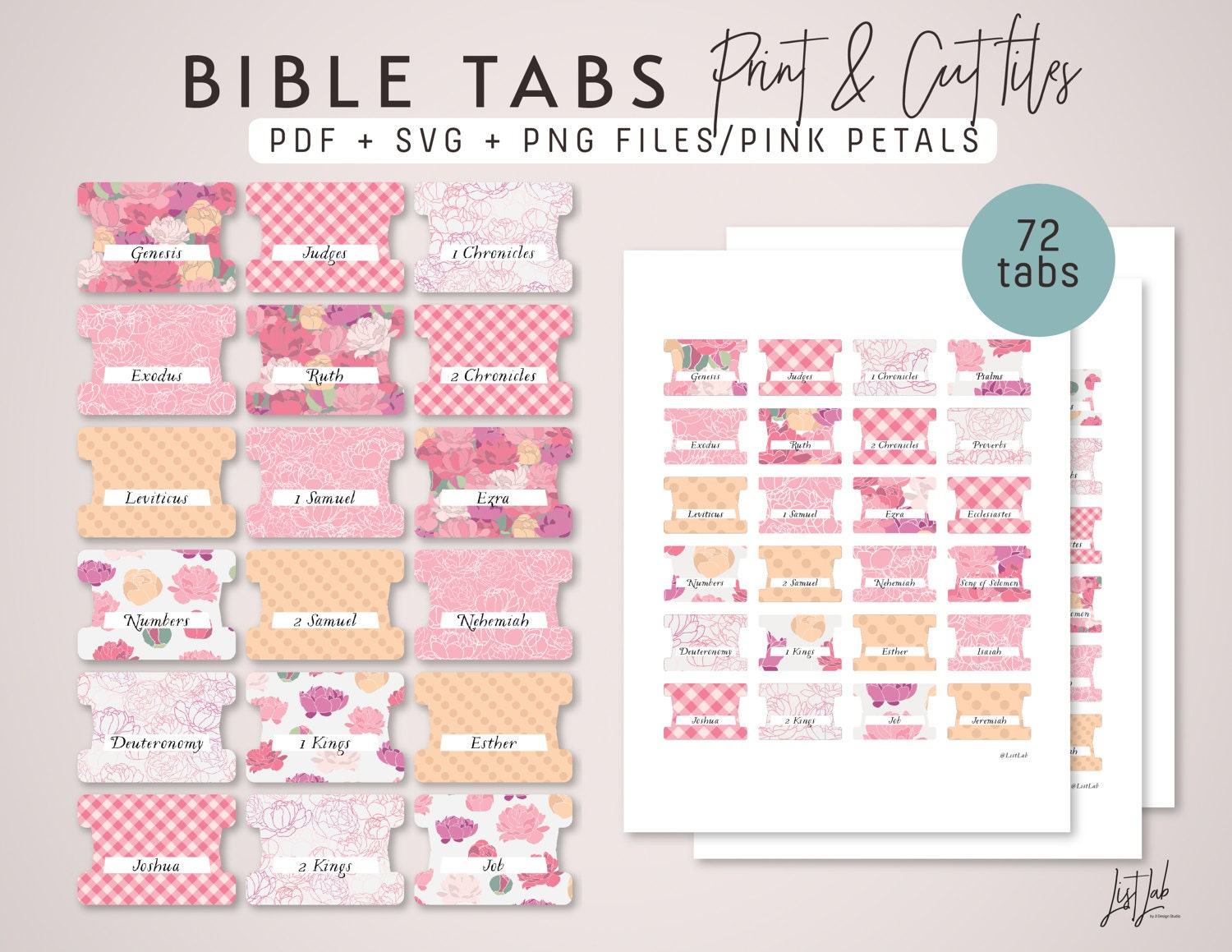 Ambitious image in printable bible tabs