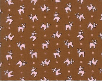 Moda-Sugar Plum Christmas by Bunny Hill Designs Reindeer Paws in Gingerbread 2912-15